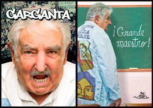 Pepe mujica garganta poderosa guadapolvos intervenidos