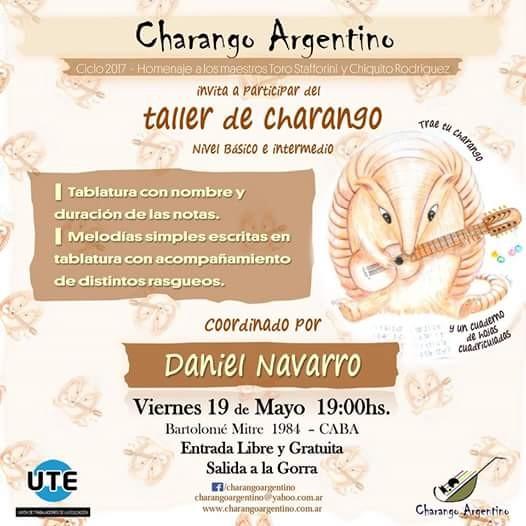 "TALLER de  ""CHARANGO ARGENTINO"" - mayo 2017"