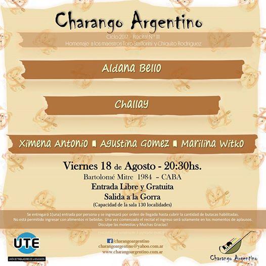 Charango Argentino - Viernes 18 de Agosto en UTE