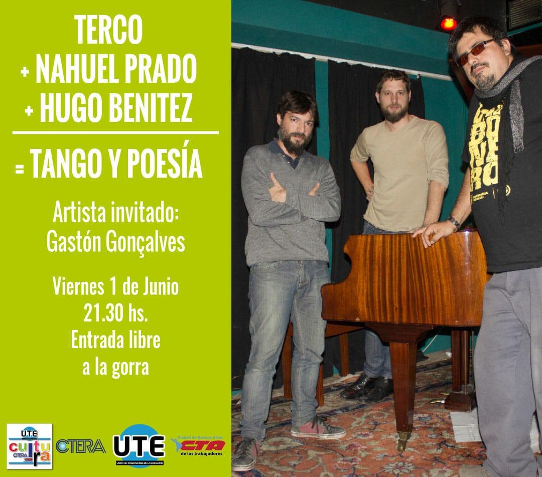 TANGO y POESIA en UTE - Viernes 1 de Junio - 21:30hs a la gorra!