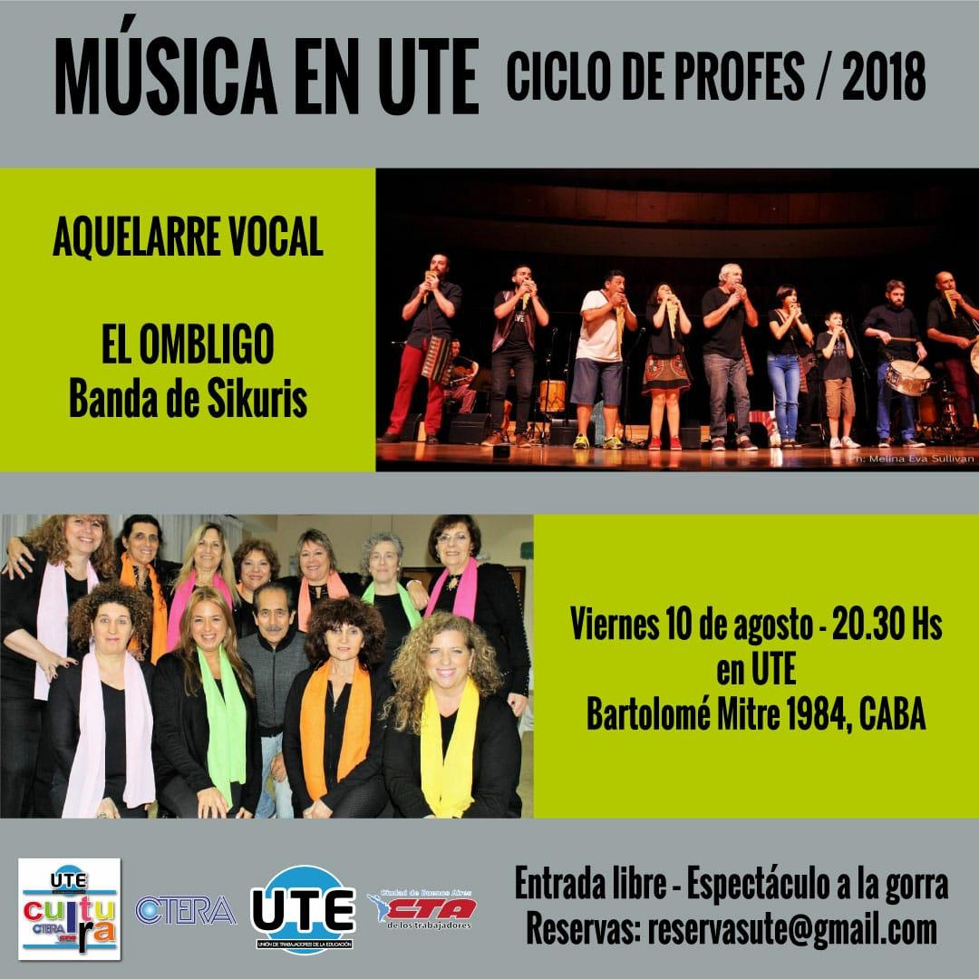 Ciclo de profes. Música en el Auditorio. Viernes 10 de Agosto. 20:30hs.