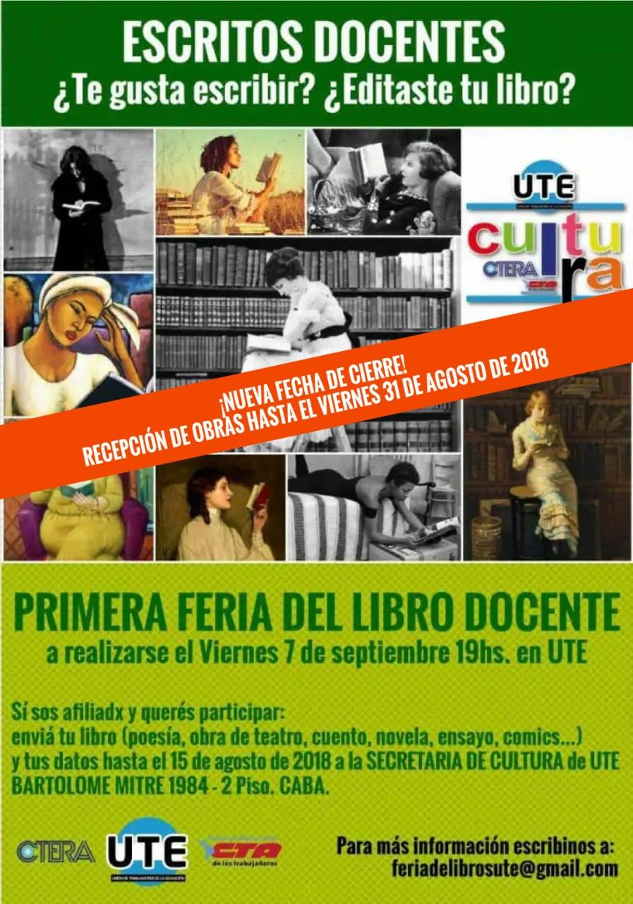 Feria del Libro docente en UTE