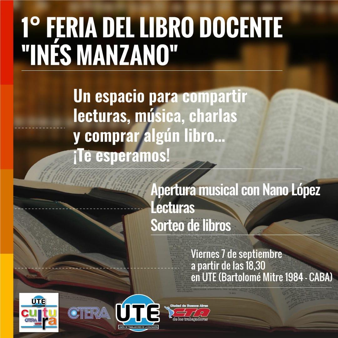 Feria del Libro Docente en UTE - Viernes 7 de Septiembre - 18:30hs.