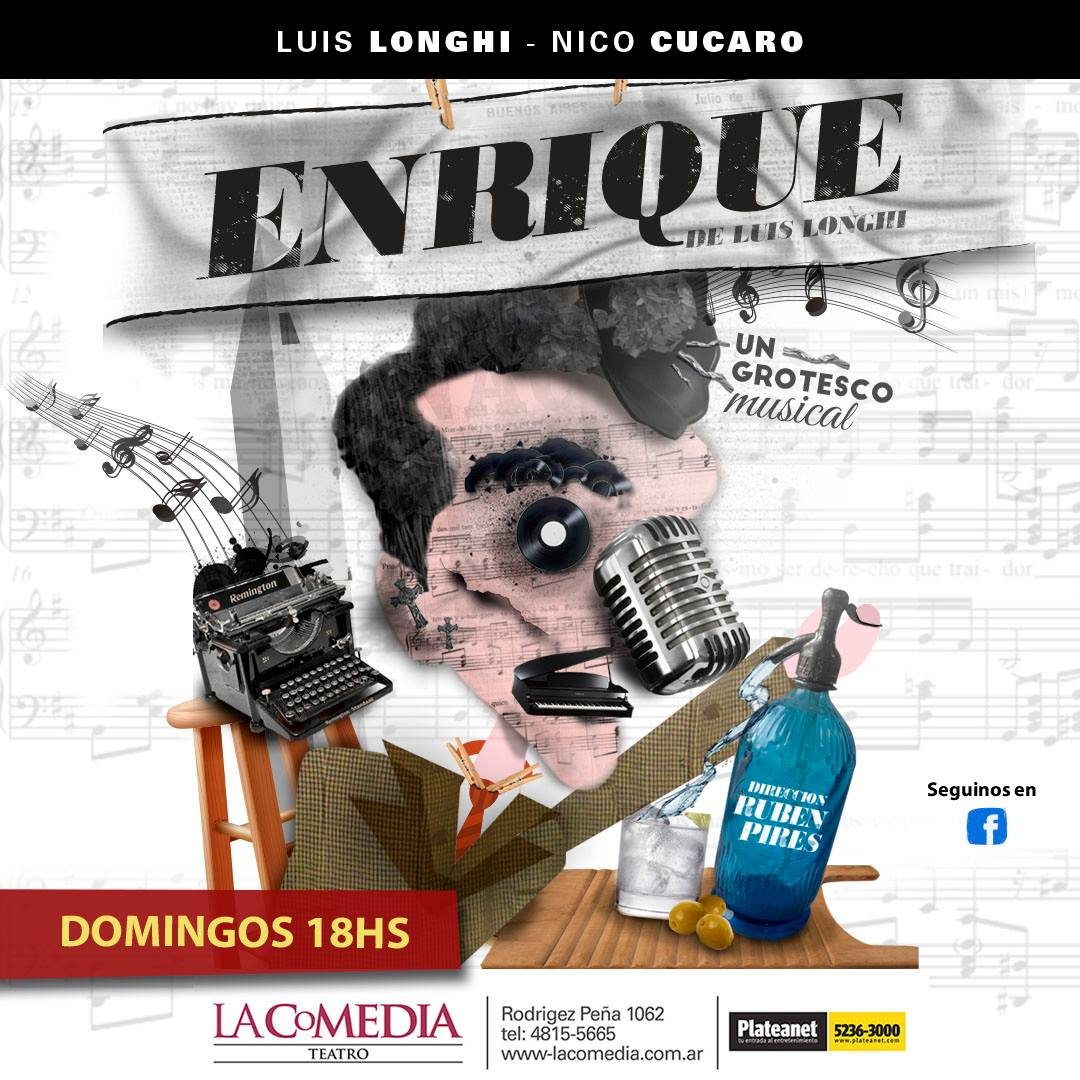 ENRIQUE. Un grotesco musical. Afiliadxs a UTE: $150.-