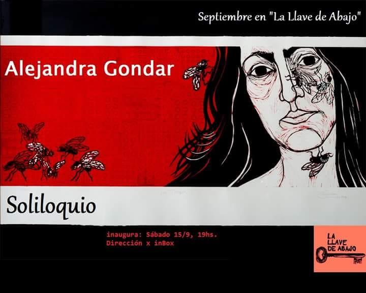 SOLILOQUIO de Alejandra Gondar. Sábado 15 de Septiembre - 19hs.