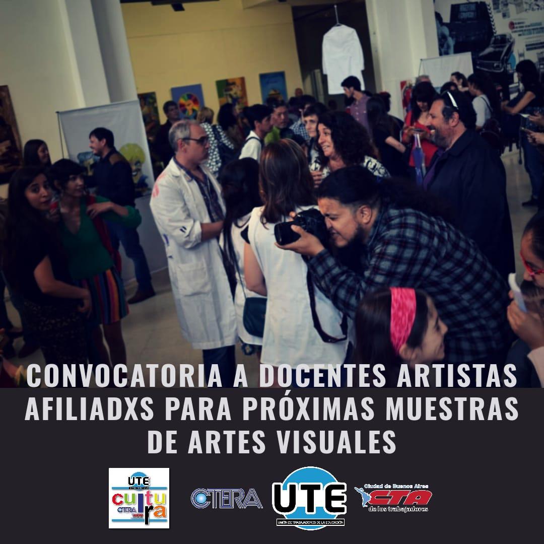 Convocatoria de artes visuales para artistas docentes afiliadxs