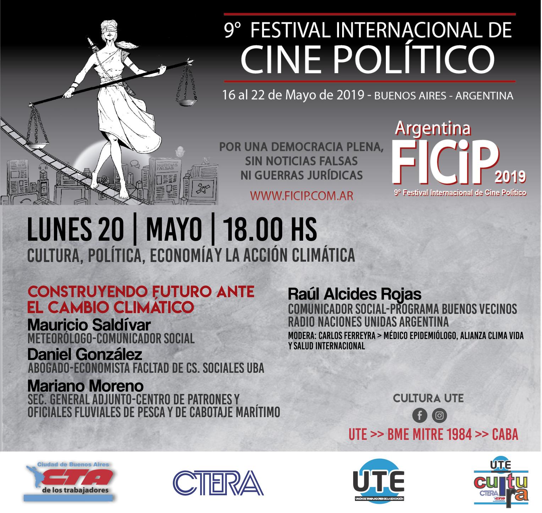 9° Festival Internacional de Cine Político - 20 de Mayo en UTE - Entrada LIBRE y GRATUITA
