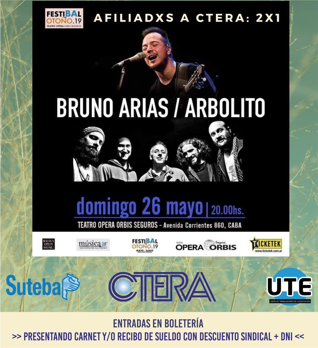 ARBOLITO y BRUNO ARIAS. Afiliadxs a UTE: 2x1