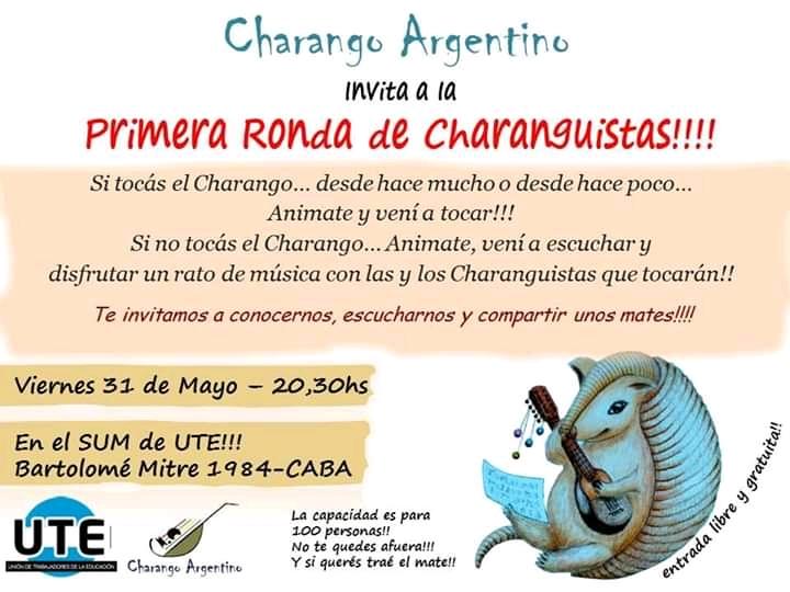 Charango Argentino en UTE - Viernes 31 de Agosto - Entrada libre y gratuita