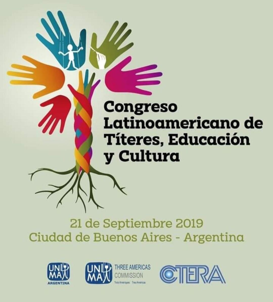"""1er Congreso Latinoamericano  """"Títeres, Educación y Cultura""""  SÁBADO 21 DE SEPTIEMBRE."""