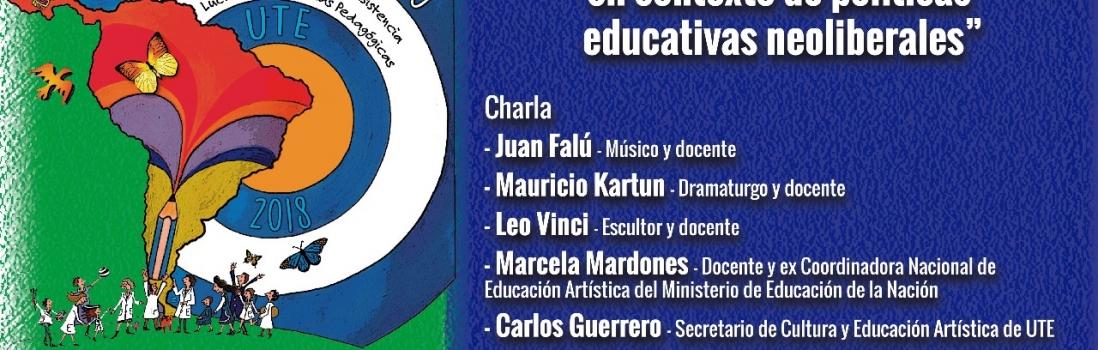 Arte y Educación en el XXIII Congreso Pedagógico. Martes 20/11 en UTE – 18:30hs.