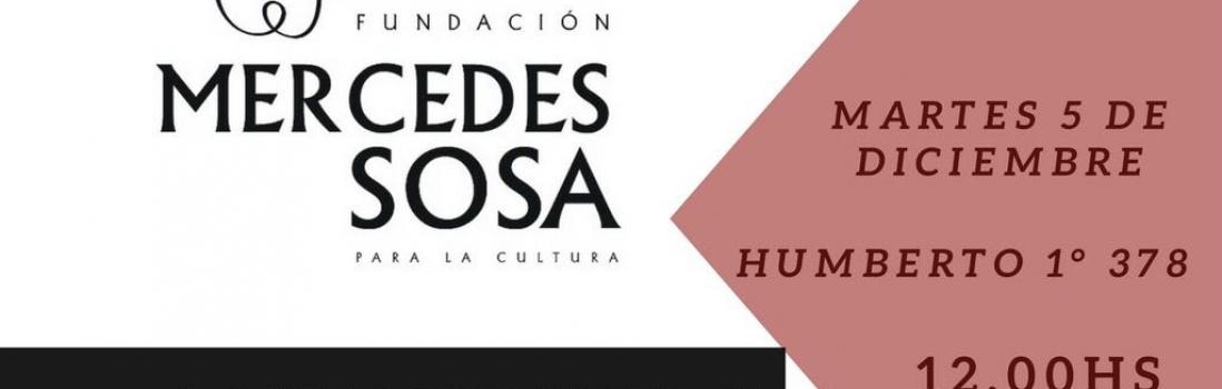 Convenio de UTE-Ctera con Fundación Mercedes Sosa