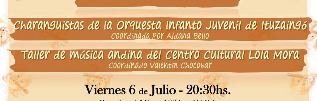 Charango Argentino en UTE – Viernes 6 de Julio – 20,30hs. A LA GORRA