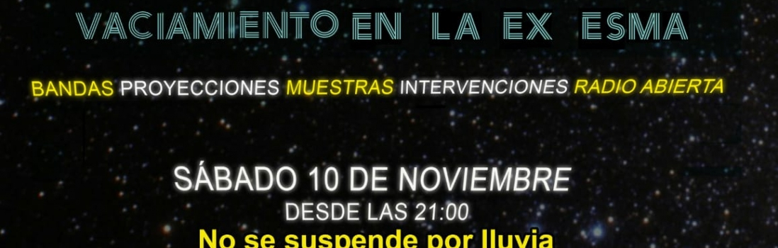 NOCHE POR LA MEMORIA – Sábado 10 de Noviembre – 21hs.