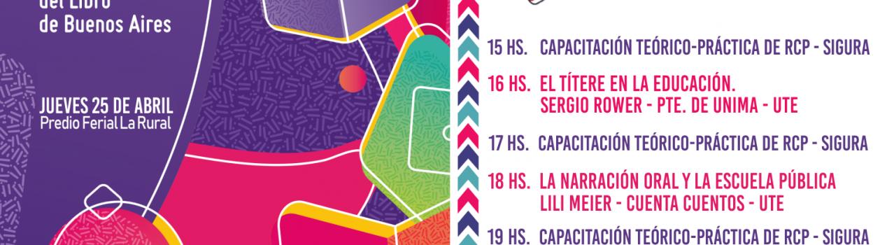 UTE en la 45º Feria Internacional del Libro de Bs As – Jueves 25 de Abril – Stand 154 (Pabellón Azul)