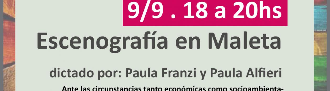 Clínica de ESCENOGRAFIA en MALETA en UTE – Lunes 9 de Septiembre – 18hs.